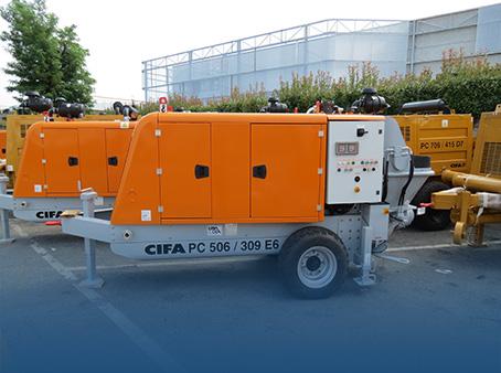 Стационарные бетононасосы CIFA